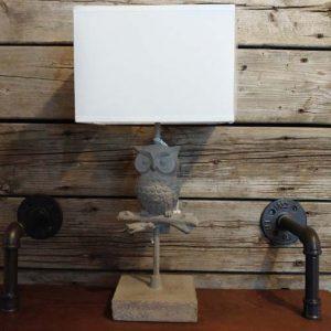 Lampe Hiboux grise